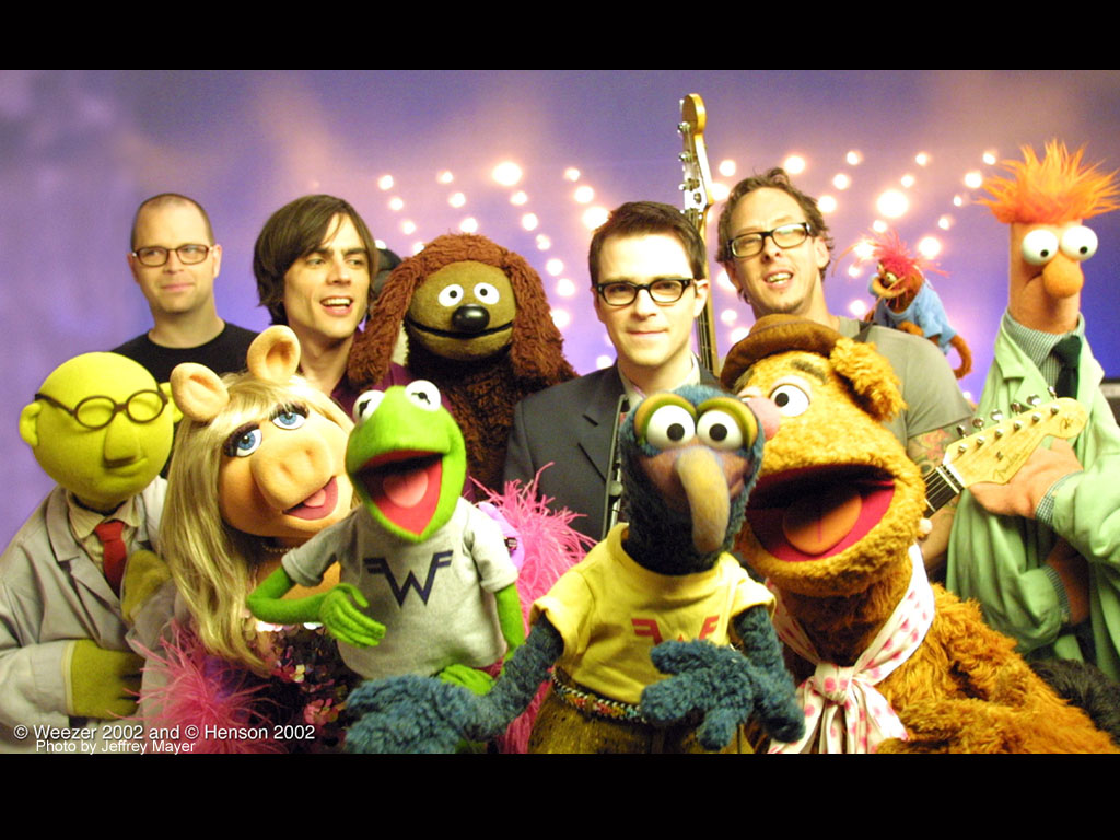 weezer with the muppets
