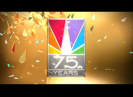 Television wallpaper called NBC 75 years