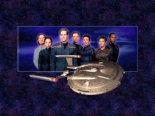 étoile, étoile, star Trek - Enterprise fond d'écran entitled NX O1 / Crew