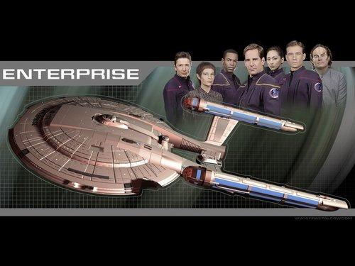 ngôi sao Trek - Enterprise hình nền entitled NX O1/Crew