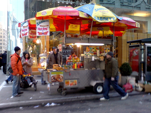 New York wallpaper entitled NYC hot dog vendor
