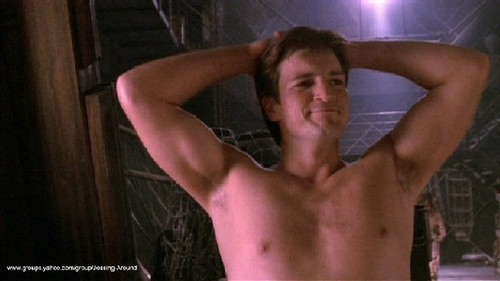 Nathan Fillion wallpaper titled Naked Mal