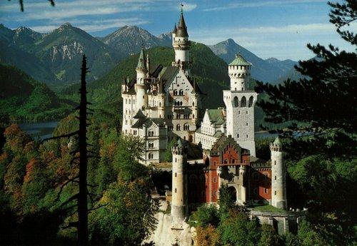 Neuschwanstein istana, castle