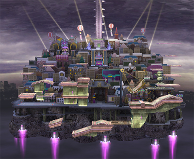 Super Smash Bros. Brawl karatasi la kupamba ukuta titled New Pork City