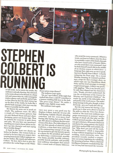 Stephen Colbert দেওয়ালপত্র called New York Magazine Scans
