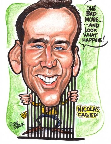 Nick Cage Caricature