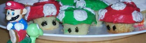 Nintendo Mushrooms - cupcakes Photo