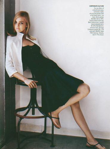 Vogue wallpaper titled Nov 2005: Caroline Trentini
