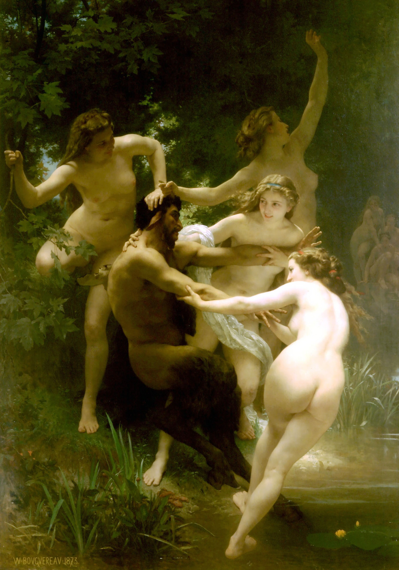 Nymphs and Satyr - Greek Mythology Photo (687160) - Fanpop