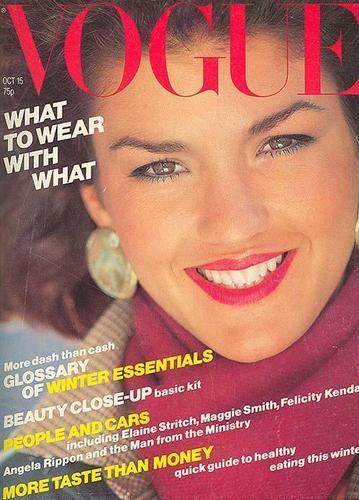 Vogue wallpaper called October 1979: Janice Dickinson