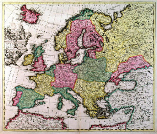 Old europa Map