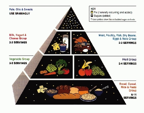 Old School Food Pyramid