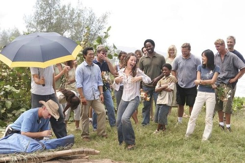 On the set of Lost