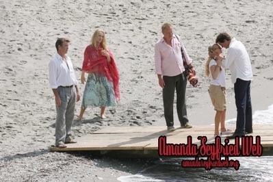 On the set of Mamma Mia!