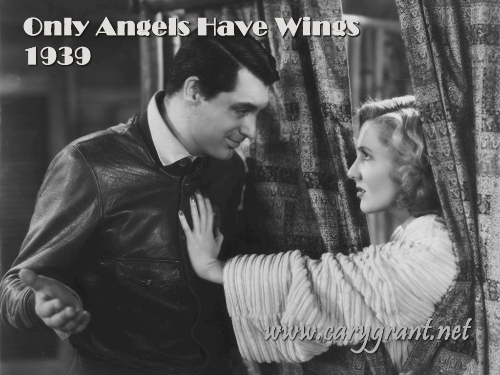 Only angels have wings black white movies wallpaper for Black and white only