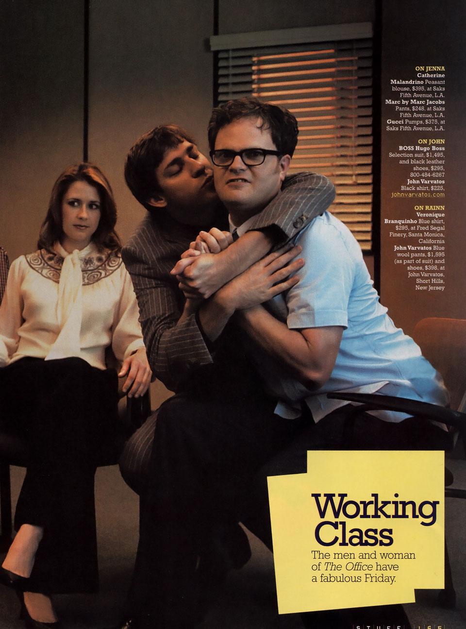 Pam, Jim and Dwight