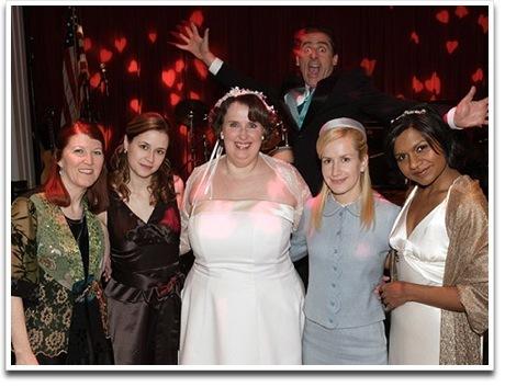 Pam at Phyllis' Wedding