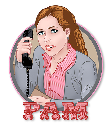The Office wallpaper titled Pam