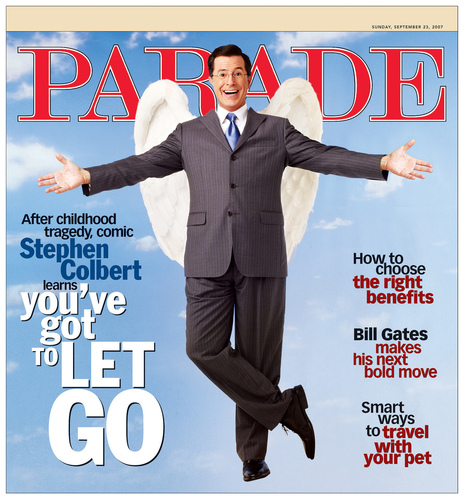 Stephen Colbert wallpaper titled Parade Magazine Sept 2007