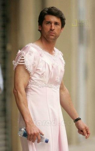 Patrick in a dress