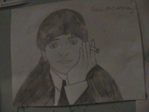 Paul McCartney kertas dinding titled Paul drawing