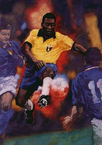 Pelé Painting