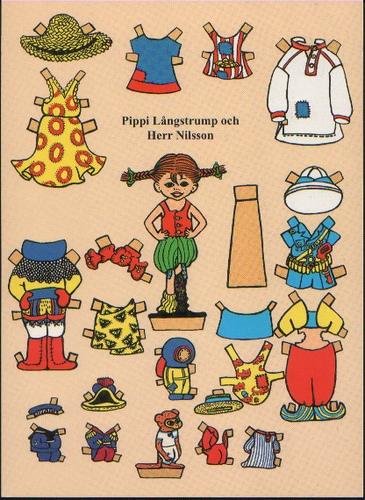 Pippi Paper Puppen