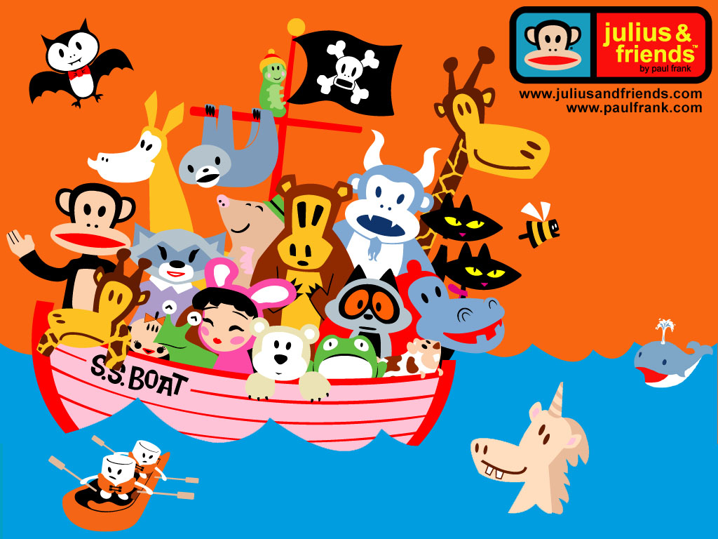 Pirate Friends - Paul Frank Wallpaper (778164) - Fanpop