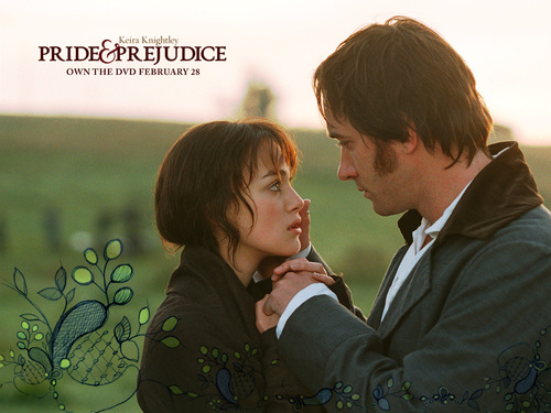 Book to Screen Adaptations karatasi la kupamba ukuta called Pride and Prejudice (2005)