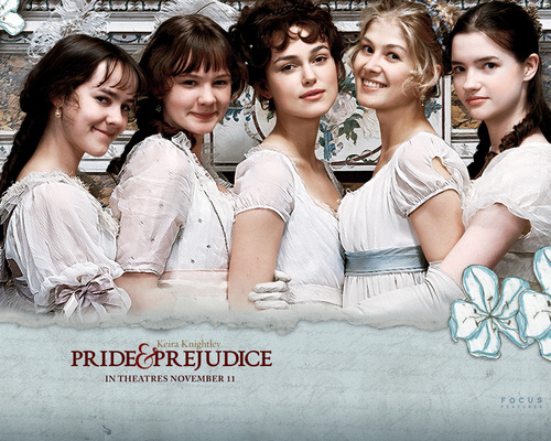 Book to Screen Adaptations 바탕화면 titled Pride and Prejudice (2005)