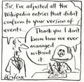Prime minister edits Wikipedia - wikipedia fan art