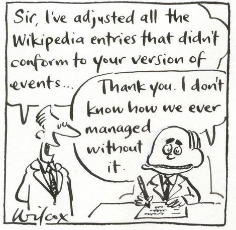Prime minister edits Wikipedia