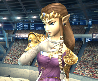 Super Smash Bros. Brawl karatasi la kupamba ukuta titled Princess Zelda
