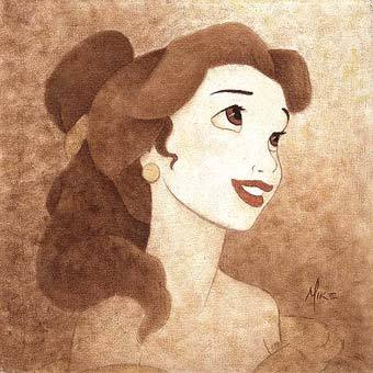 Disney Princess wallpaper entitled Princesses in Sepia