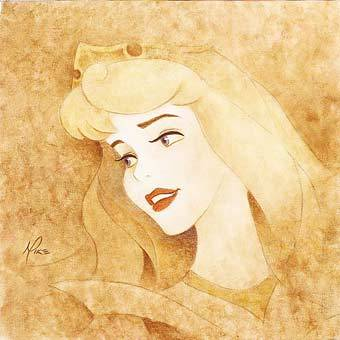 Disney Princess wallpaper called Princesses in Sepia