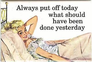 Procrastination モットー