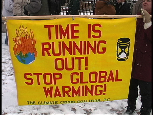 Global Warming Prevention wallpaper titled Protest Sign