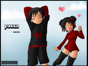 Pucca wallpaper entitled Pucca and Garu Anime