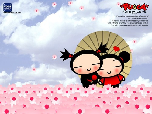 Pucca and Garu 壁紙