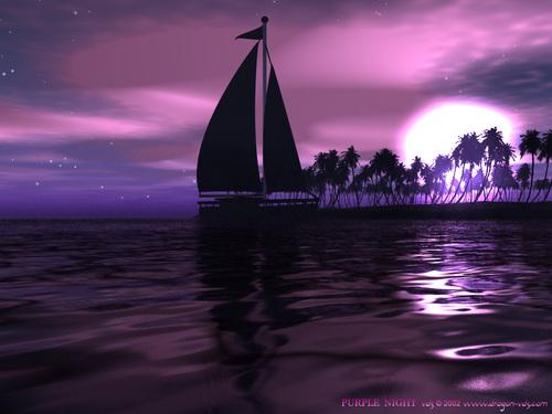 Purple দেওয়ালপত্র