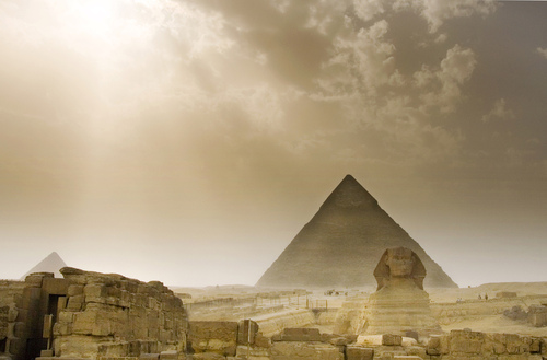 Egypt achtergrond titled Pyramids of Giza