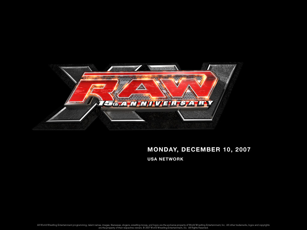 raw 15th anniversary professional wrestling wallpaper