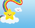 Rainbow Star - kawaii wallpaper