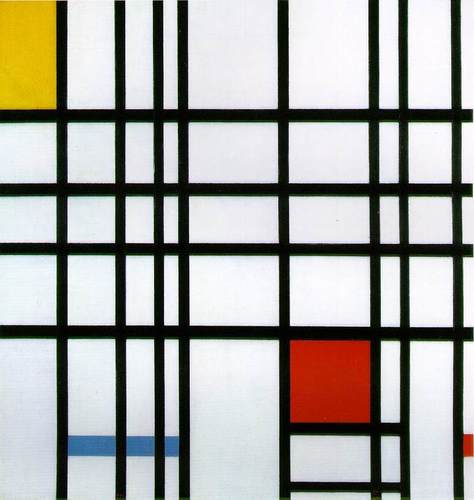 Modern Art wallpaper entitled Red, Yellow and Blue