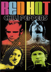 The 90s wallpaper titled Red Hot Chili Peppers