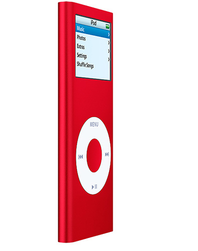 Red Hintergrund titled Red Ipods