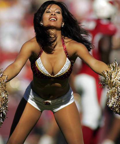 NFL Cheerleaders wallpaper entitled RedSkins Cheers