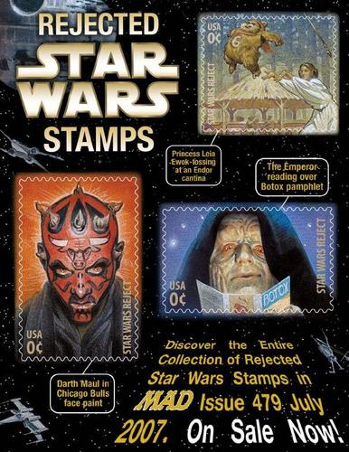 Rejected سٹار, ستارہ Wars Stamps