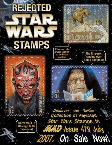 Rejected bintang Wars Stamps