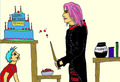 Remus's Birthday Cake - tonks fan art